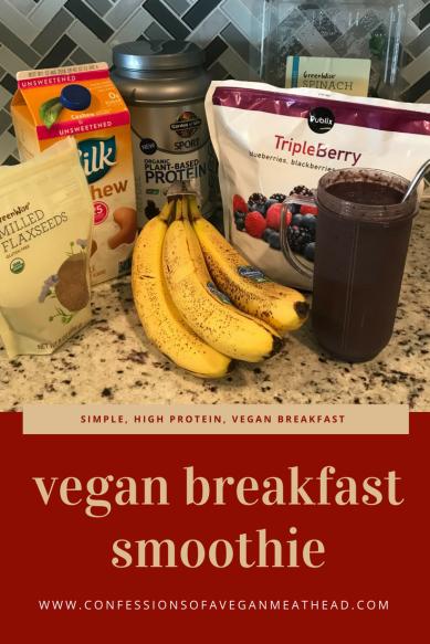 Simple, high protein, vegan breakfast