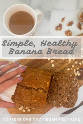 Simple, Healthy Banana Bread
